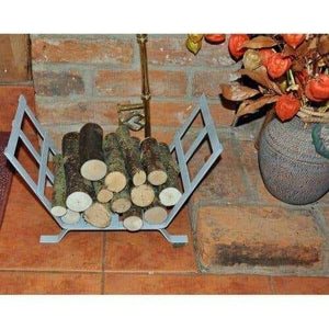 Small Handmade Metal Log Basket without Scrolls