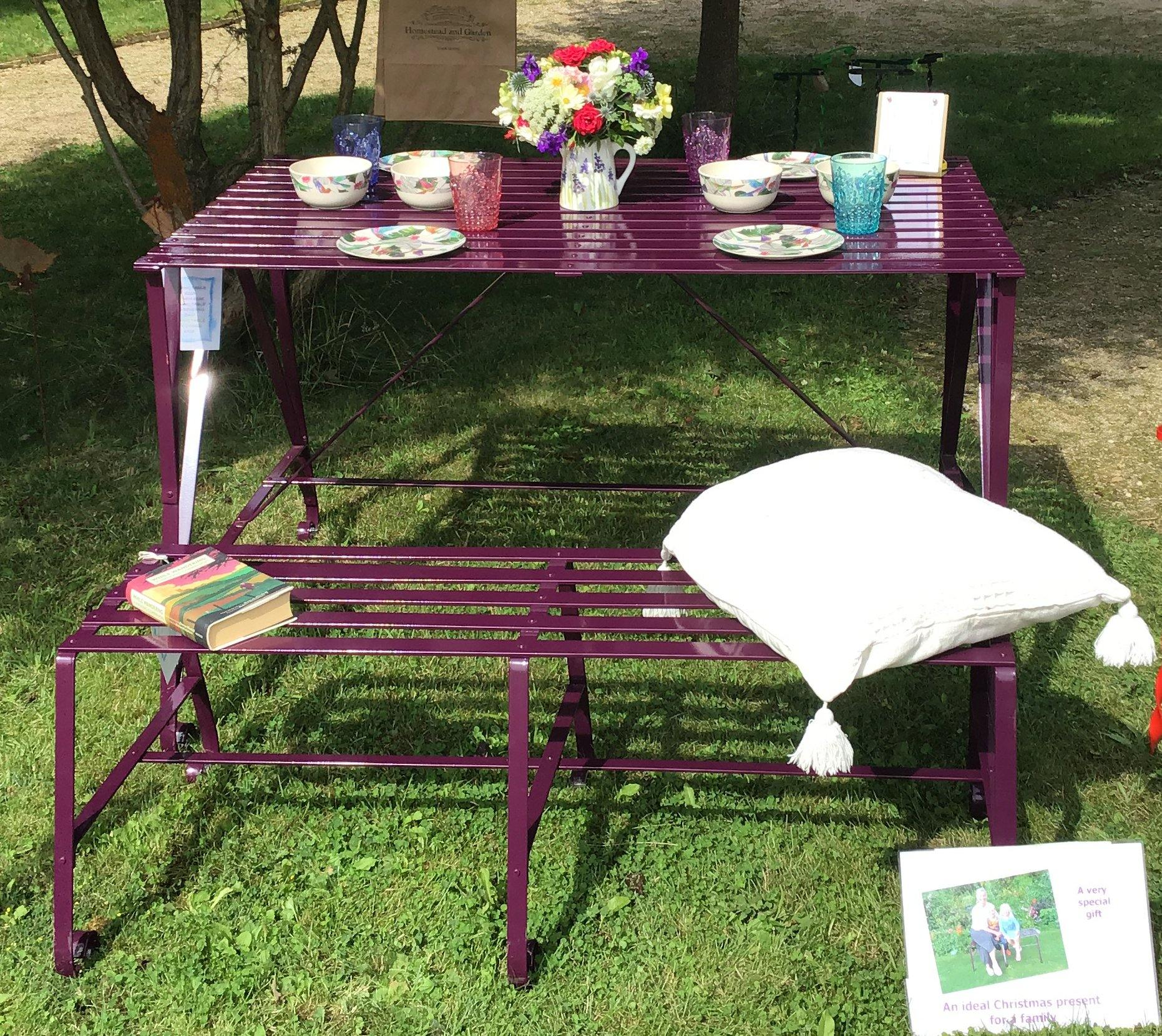 Garden Table with Bench Seat