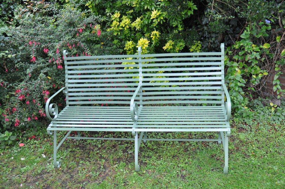Twin Garden Bench - Strong and Heavy. Built to last