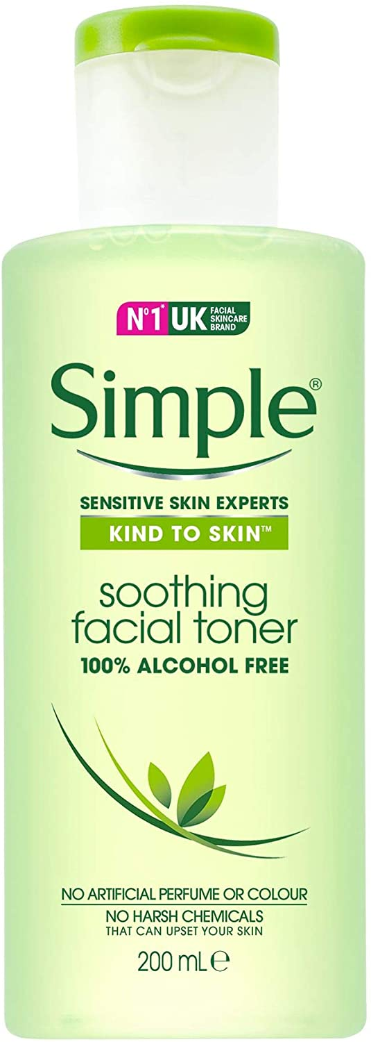 Simple Kind to Skin Alcohol Free Soothing Facial Toner 200ml