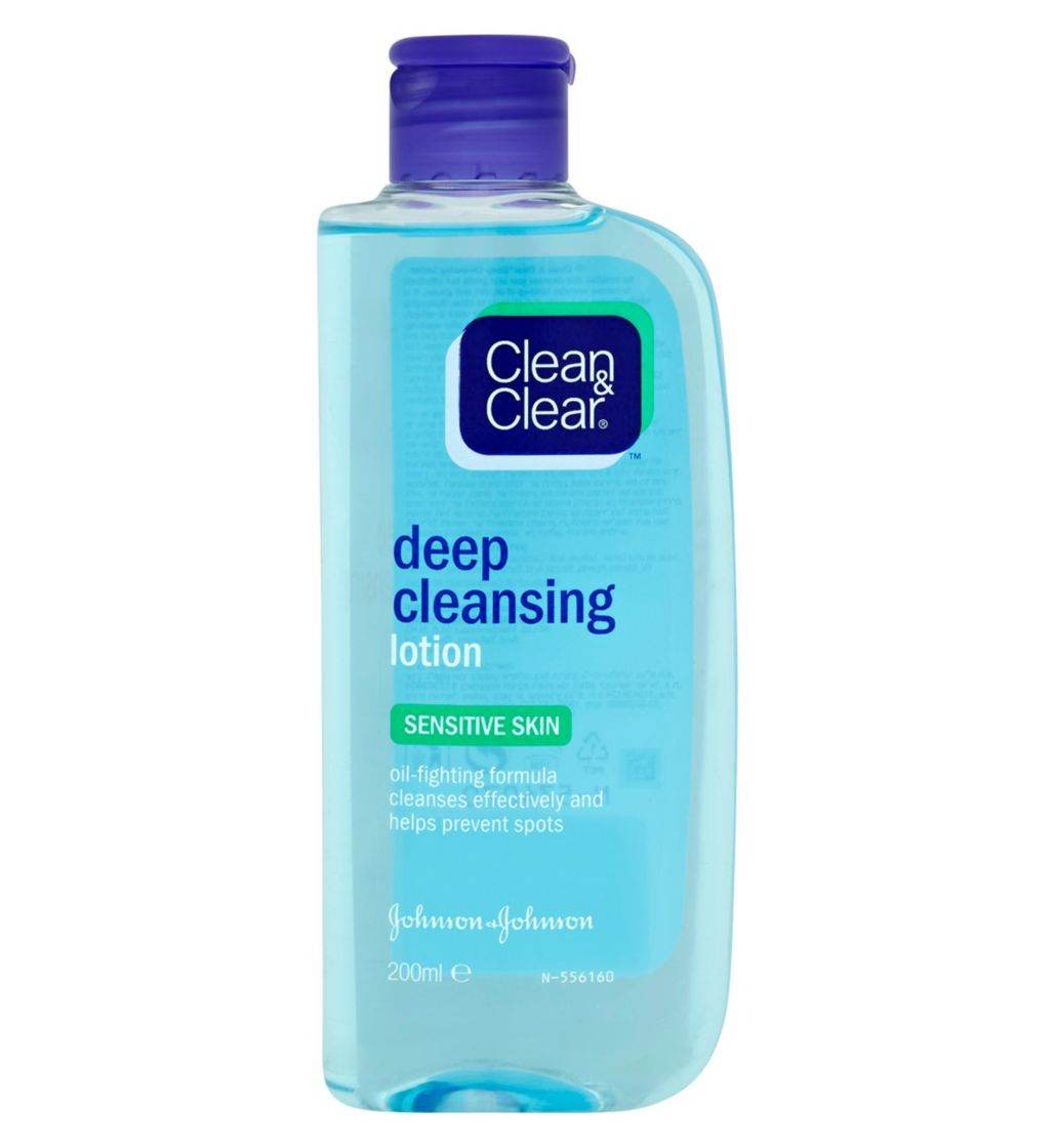 Clean and Clear Deep Cleansing Lotion For Sensitive Skin 200ML