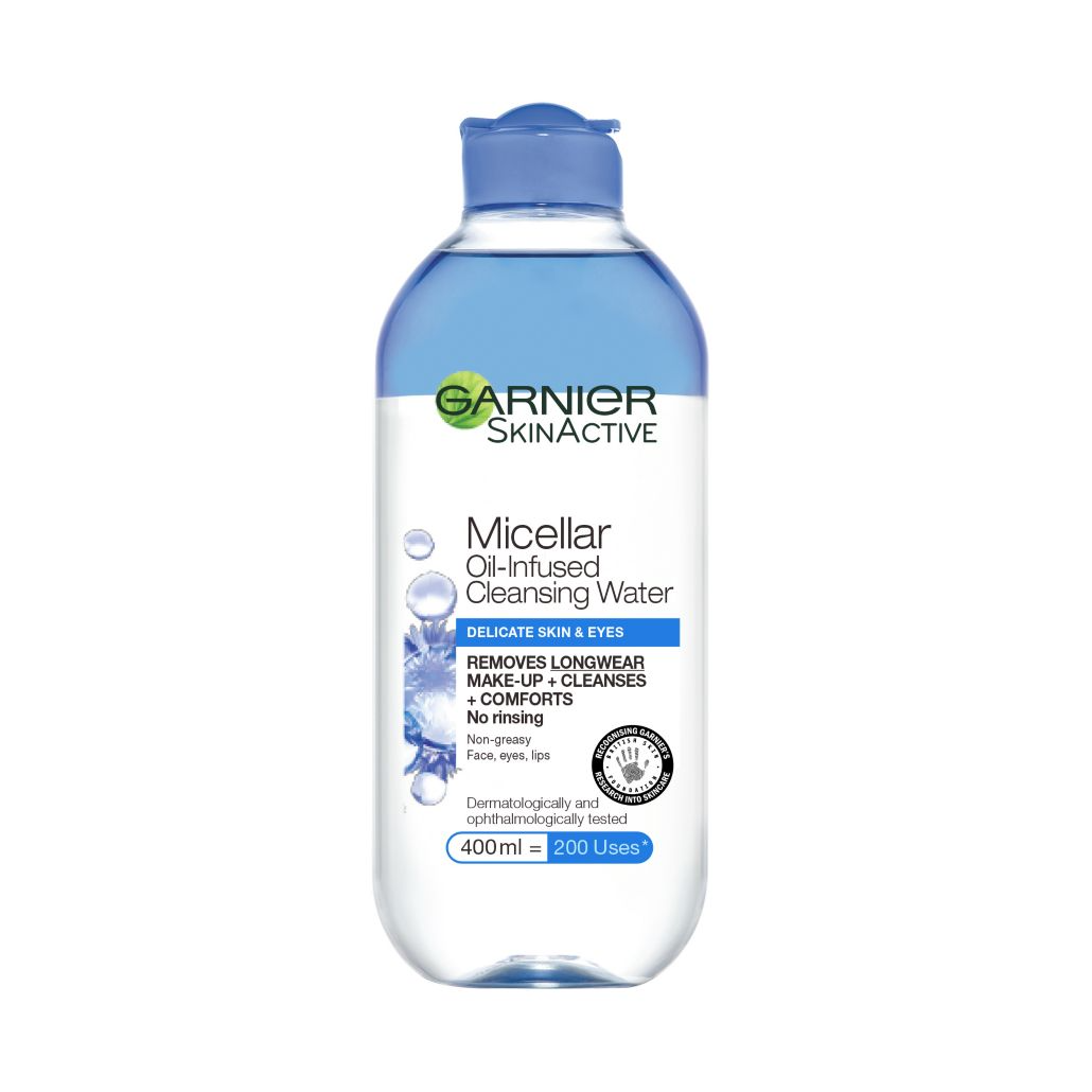 Garnier Micellar Water Facial Cleanser Delicate Skin and Eyes 400ml