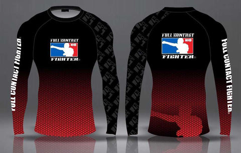 FCF Rash Guards - Black / Red