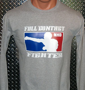 No Holds Barred Long Sleeve Shirt - Steel Grey