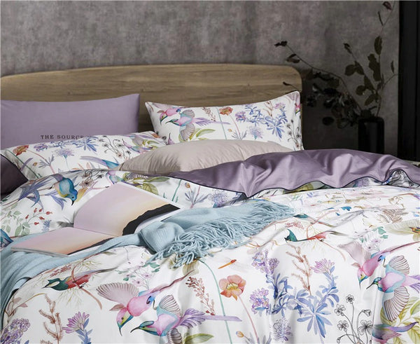 Birds and Flowers Bedding Set (Egyptian Cotton)
