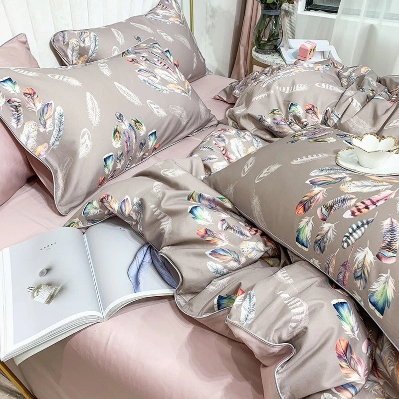 Flowers from Feathers Bedding Set (Egyptian Cotton)
