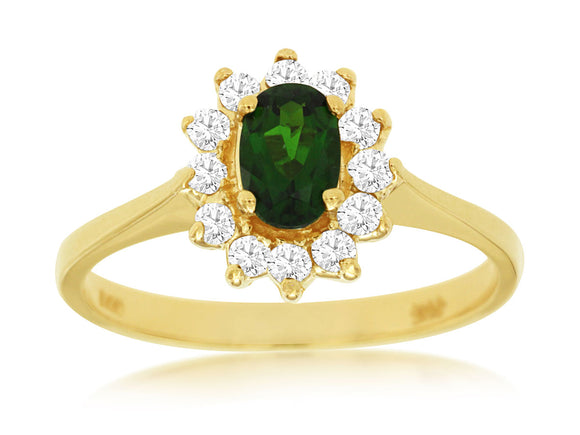 RUSSALITE & DIAMOND RING (2051CH)