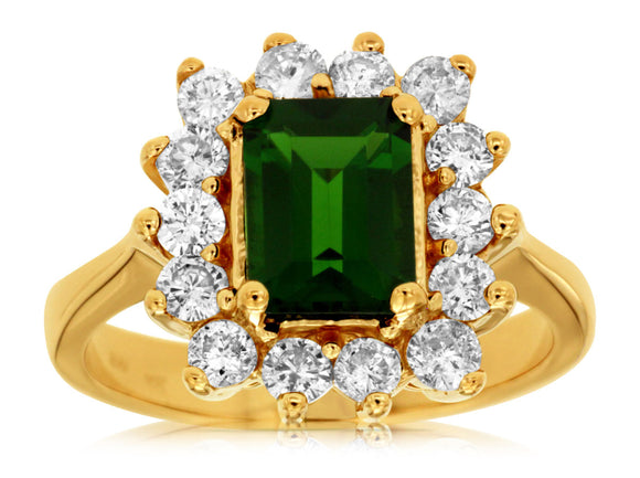RUSSALITE & DIAMOND RING (3832CH)