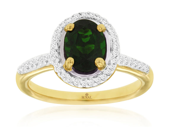 RUSSALITE & DIAMOND RING (3833CH)
