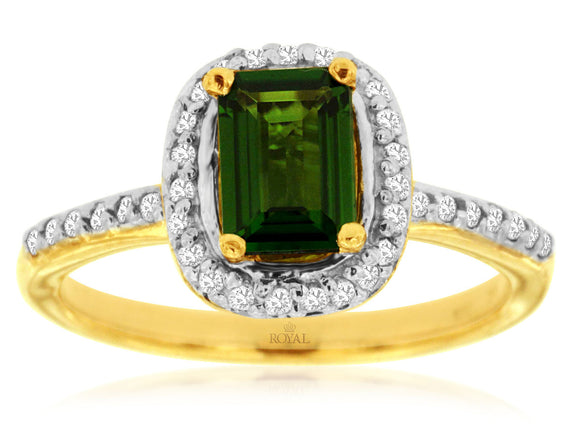 RUSSALITE & DIAMOND RING (3837CH)