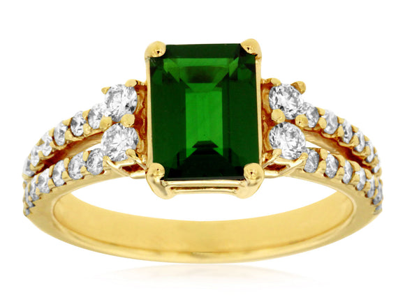 RUSSALITE & DIAMOND RING (3874CH)