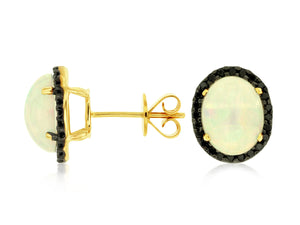 OPAL & DIAMOND EARRING (C4199F)