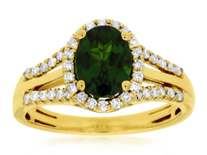 RUSSALITE & DIAMOND RING (C5698CH)