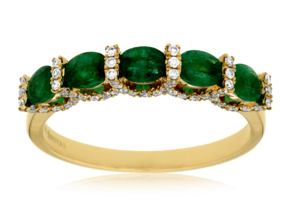 EMERALD & DIAMOND RING (C6760E)