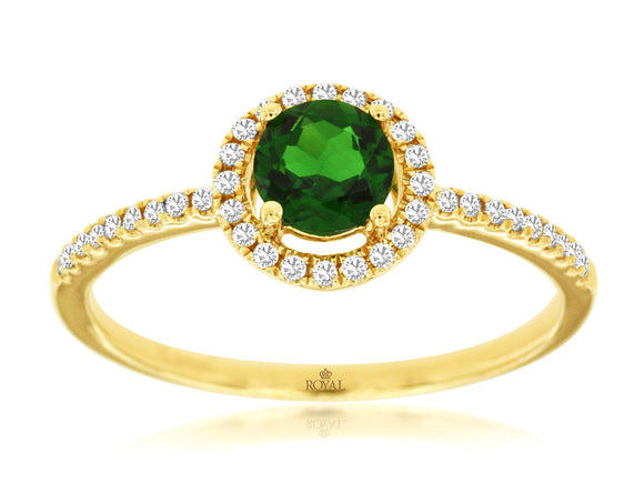 RUSSALITE & DIAMOND RING (C7141CH)