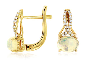 OPAL & DIAMOND EARRING (C7485F)
