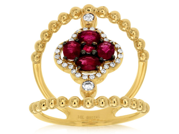 RUBY & DIAMOND RING (C7717R)