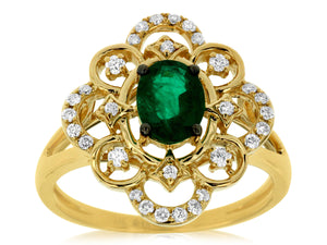 EMERALD & DIAMOND RING (C7763EM)