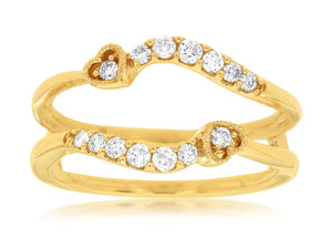 LADIES DIAMOND INSERT RING (C8233D)