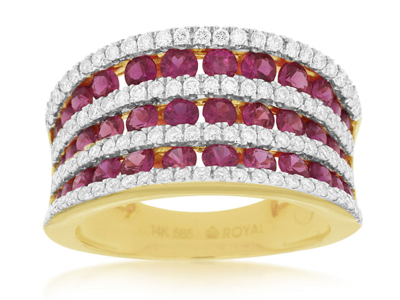 RUBY & DIAMOND RING (C8489R)