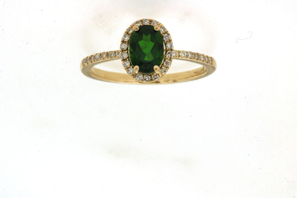 RUSSALITE & DIAMOND RING (C8643CH)