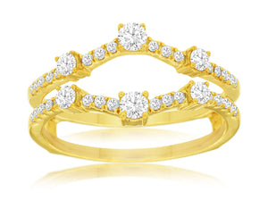 LADIES DIAMOND INSERT RING (C8756D)