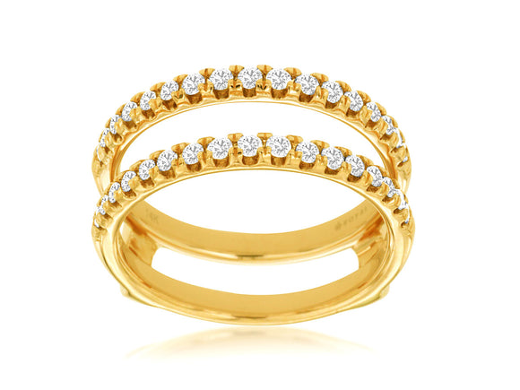 LADIES DIAMOND INSERT RING (C9037D)