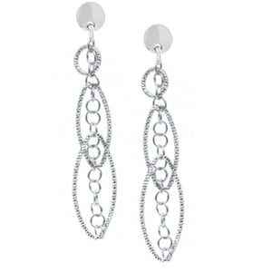 Sterling Silver Oval Decadence Earrings