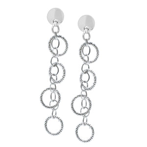 Sterling Silver Circle Imagination Earrings