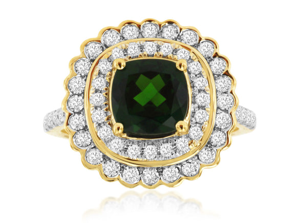 RUSSALITE & DIAMOND RING (H1138CH)