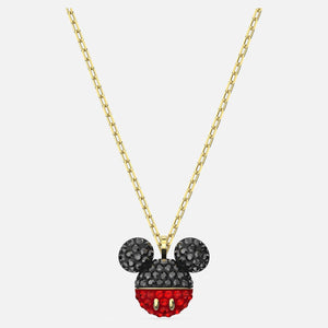 Mickey Pendant, Black, Gold-tone plated