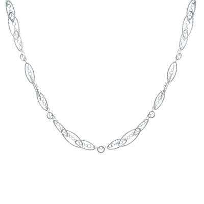 Sterling Silver Oval Decadence Necklace