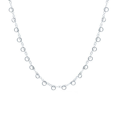 Sterling Silver Circle Imagination Necklace