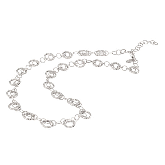 Sterling Silver Circles Galore Necklace
