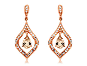 MORGANITE & DIAMOND EARRING (PC5994M)