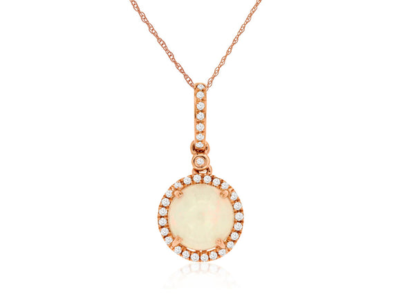 OPAL & DIAMOND PENDANT (PC6063F)