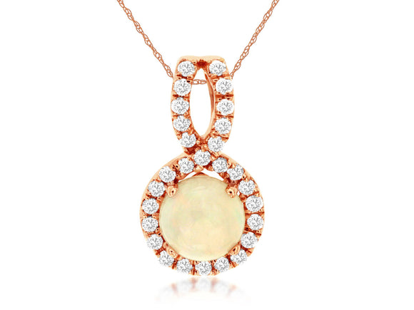 OPAL & DIAMOND PENDANT (PC6101F)