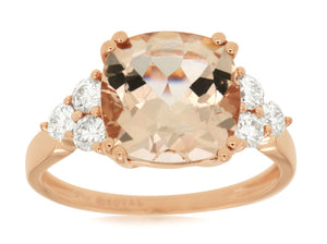 MORGANITE & DIAMOND RING (PC6171M)