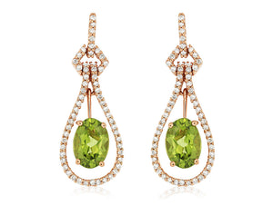 PERIDOT & DIAMOND EARRING (PC6549X)