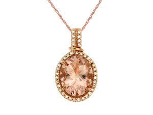 MORGANITE & DIAMOND PENDANT (PC6553M)