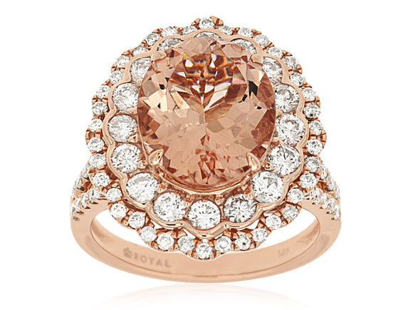 MORGANITE & DIAMOND RING (PC7262M)