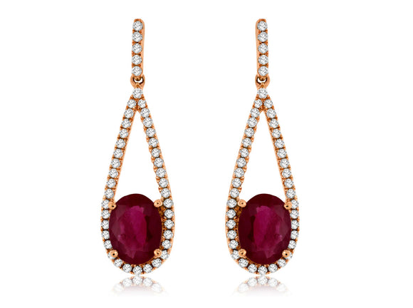 RUBY & DIAMOND EARRING (PC7681R)
