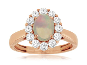 OPAL & DIAMOND RING (PC8425F)