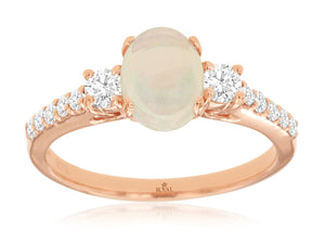 OPAL & DIAMOND RING (PR3834F)