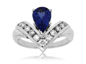 TANZANITE & DIAMOND RING (W1534TZ)