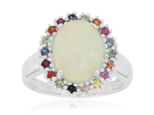 OPAL & DIAMOND RING (WC3572F)