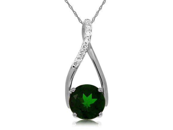 RUSSALITE & DIAMOND PENDANT (WC4827C)