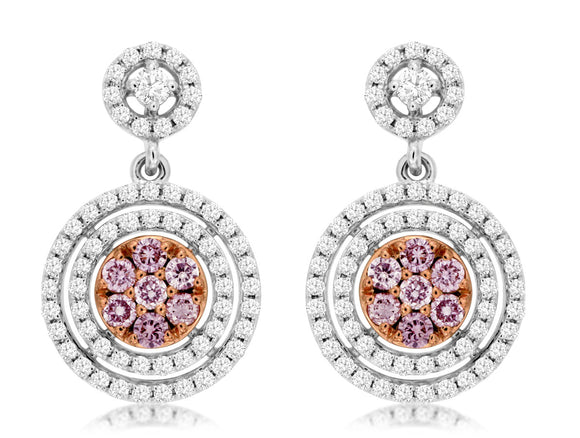 WHITE & PINK DIAMOND EARRING (WC6228P)
