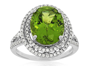 PERIDOT & DIAMOND RING (WC6249X)