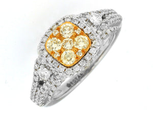 YELLOW DIAMOND & DIAMOND RING (WC6901Y)